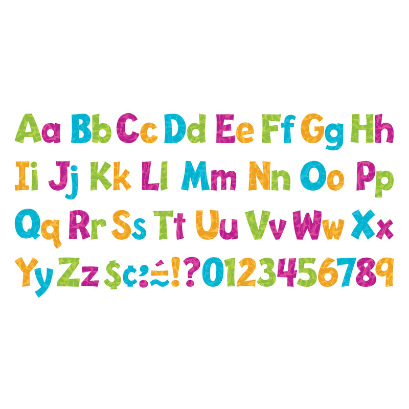 Paint Strokes 4in Playful Rdy Lttrs Uppercase-lowercase Combo Pk