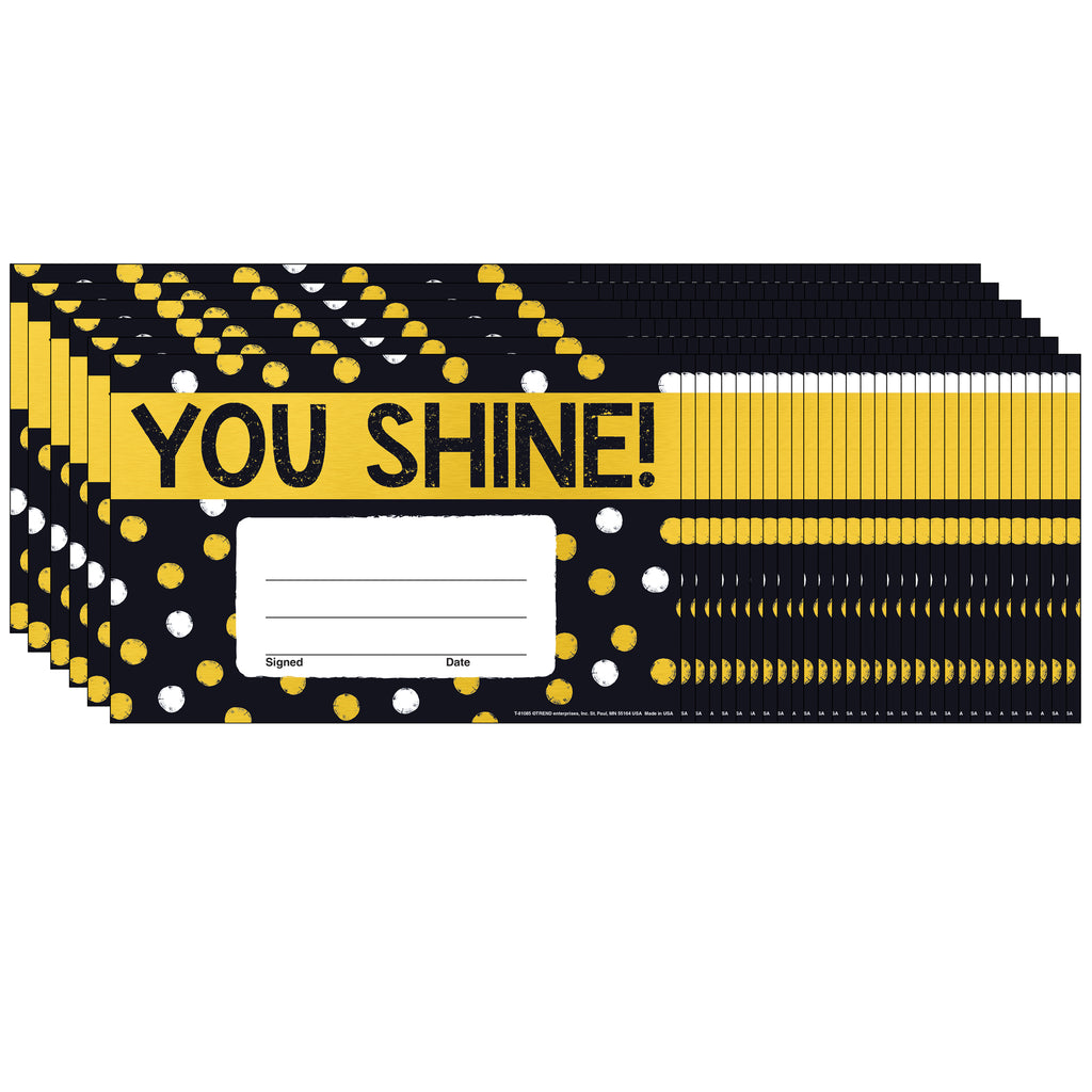 (6 Pk) You Shine Dots Recognition Awards I Love Metal