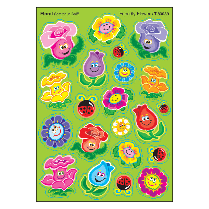 Friend Flowers-floral Shapes Stinky Stickers
