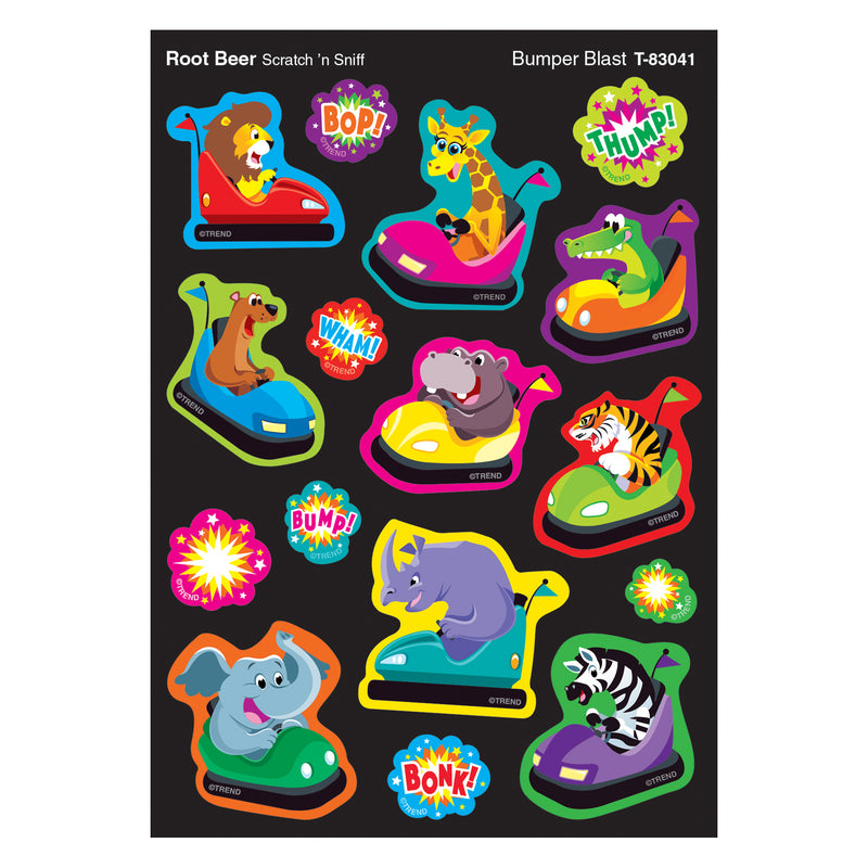 Bumpr Blast-root Beer Shapes Stinky Stickers