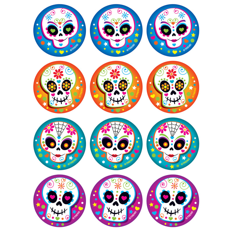 Colorful Skulls-vanilla Stinky Stickers