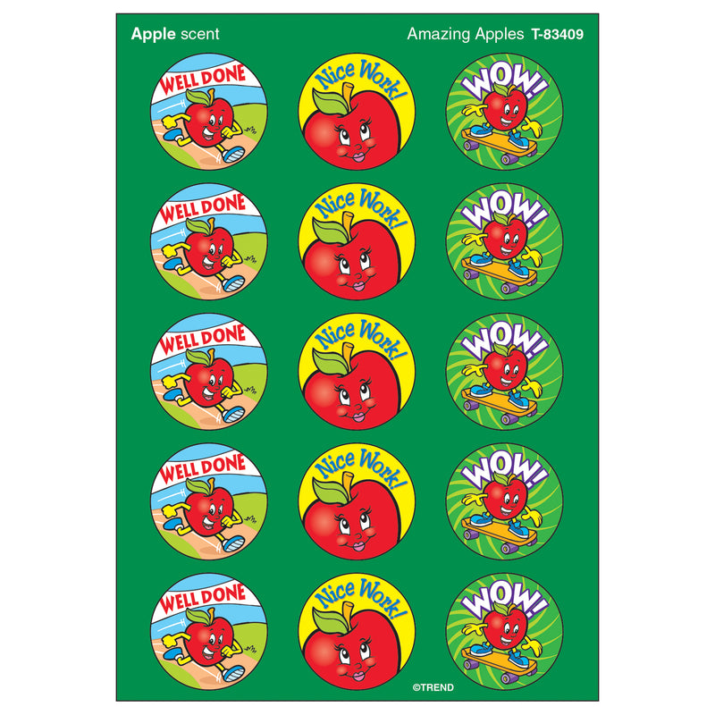 (6 Pk) Stinky Stickers Amazing Apples 60 Per Pk Acid-free Apple