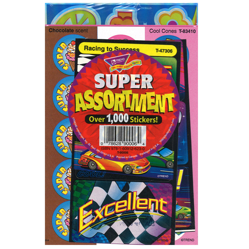 Super Assortment Sticker Pk 1000-pk