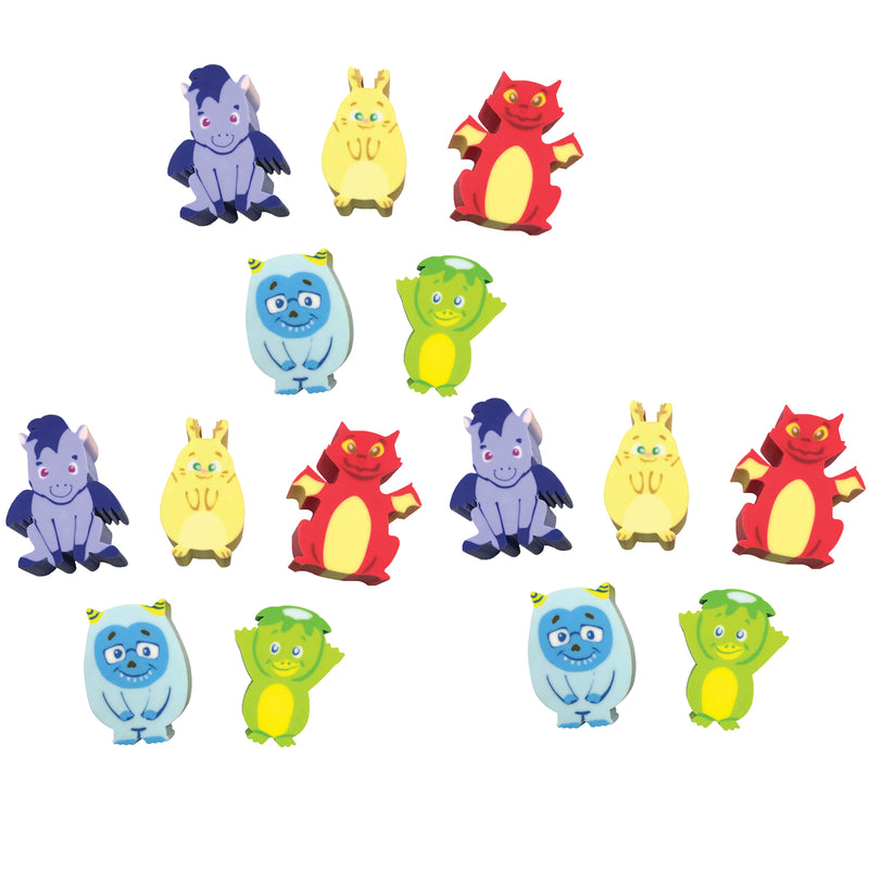 (3 Pk) Whatsits Collectble Erasers Mystery Packs Fantasy Friends