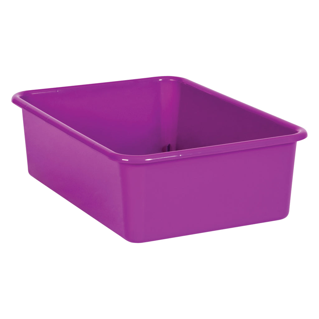 Purple Large Plastic Storage Bin
