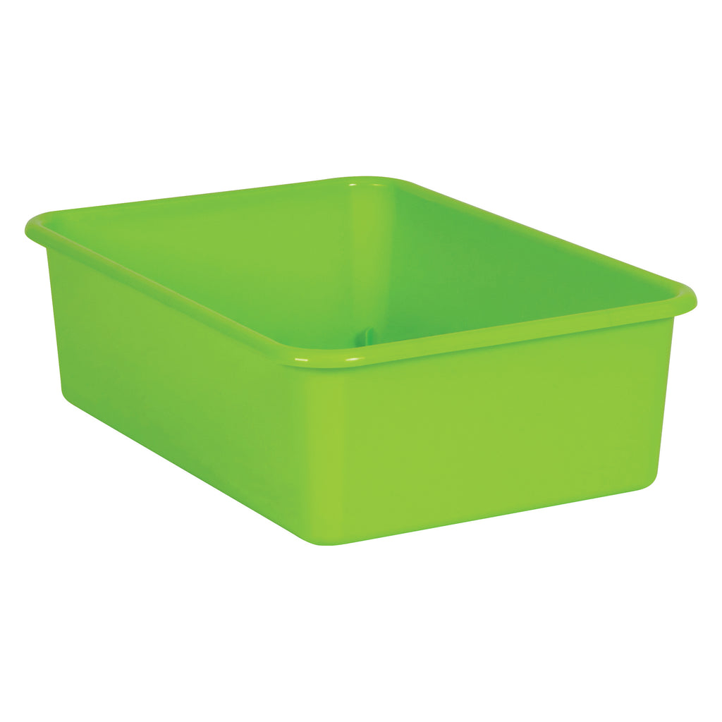 Lime Large Plastic Storage Bin