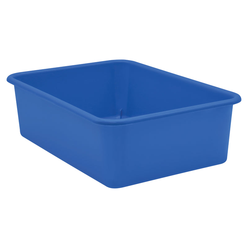 Blue Large Plastic Storage Bin