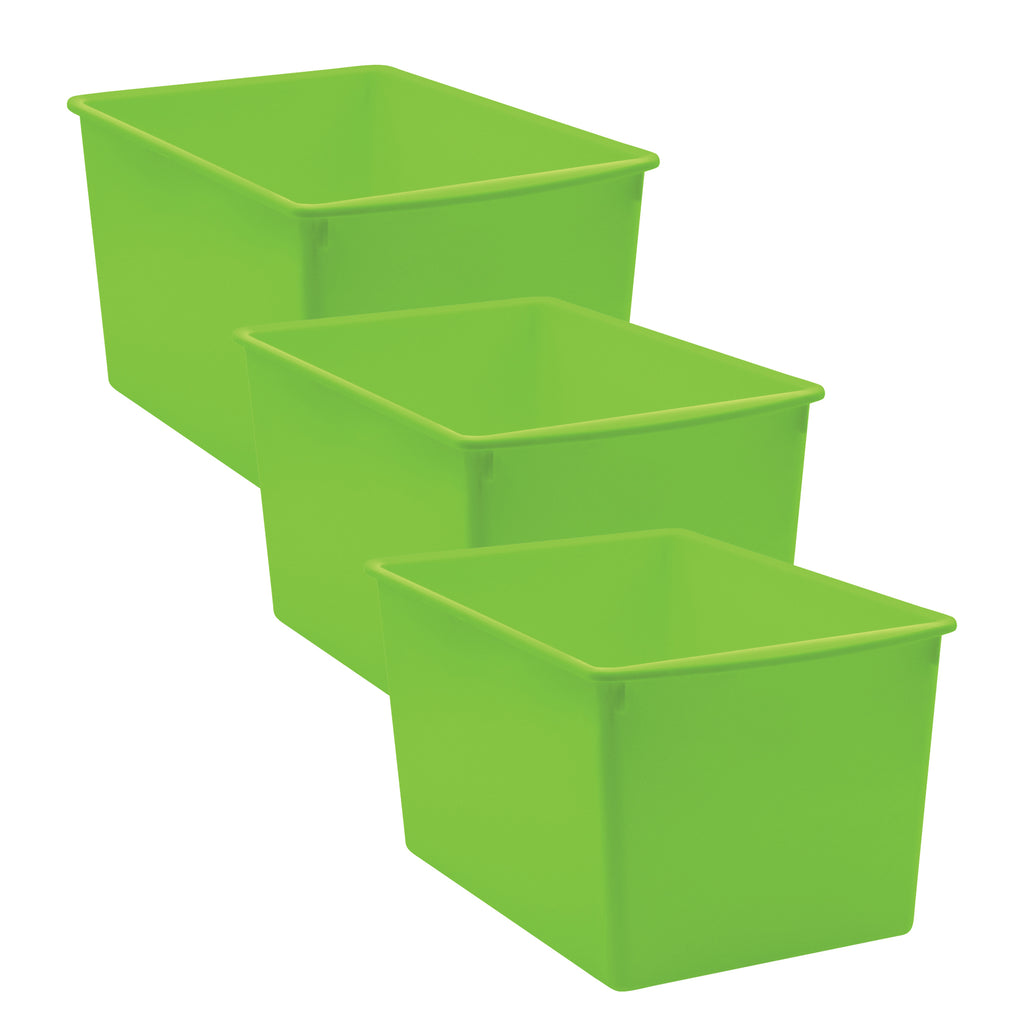 (3 Ea) Lime Plastic Multi-purpose Bin