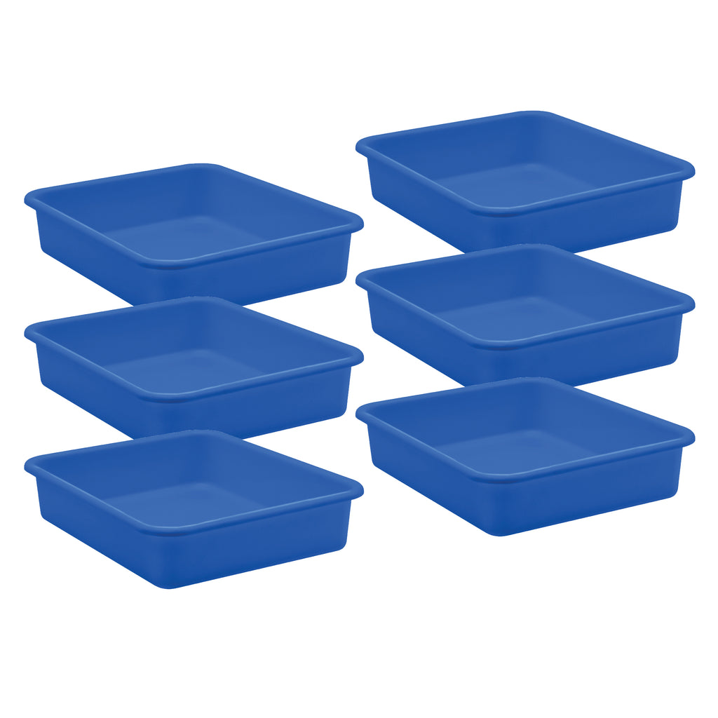 (6 Ea) Blue Large Plastic Letter Tray