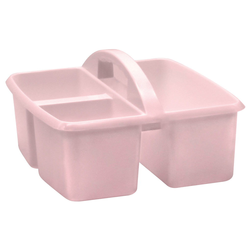 Blush Plastic Storage Caddy