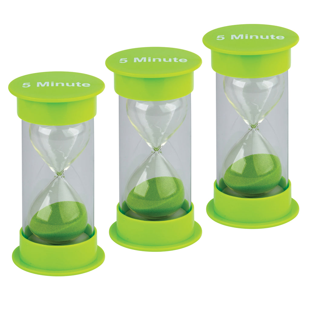 (3 Ea) 5 Minute Sand Timer Medium