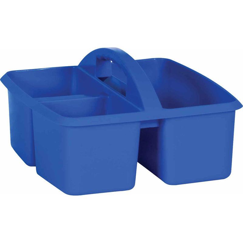 (6 Ea) Blue Plastic Storage Caddy