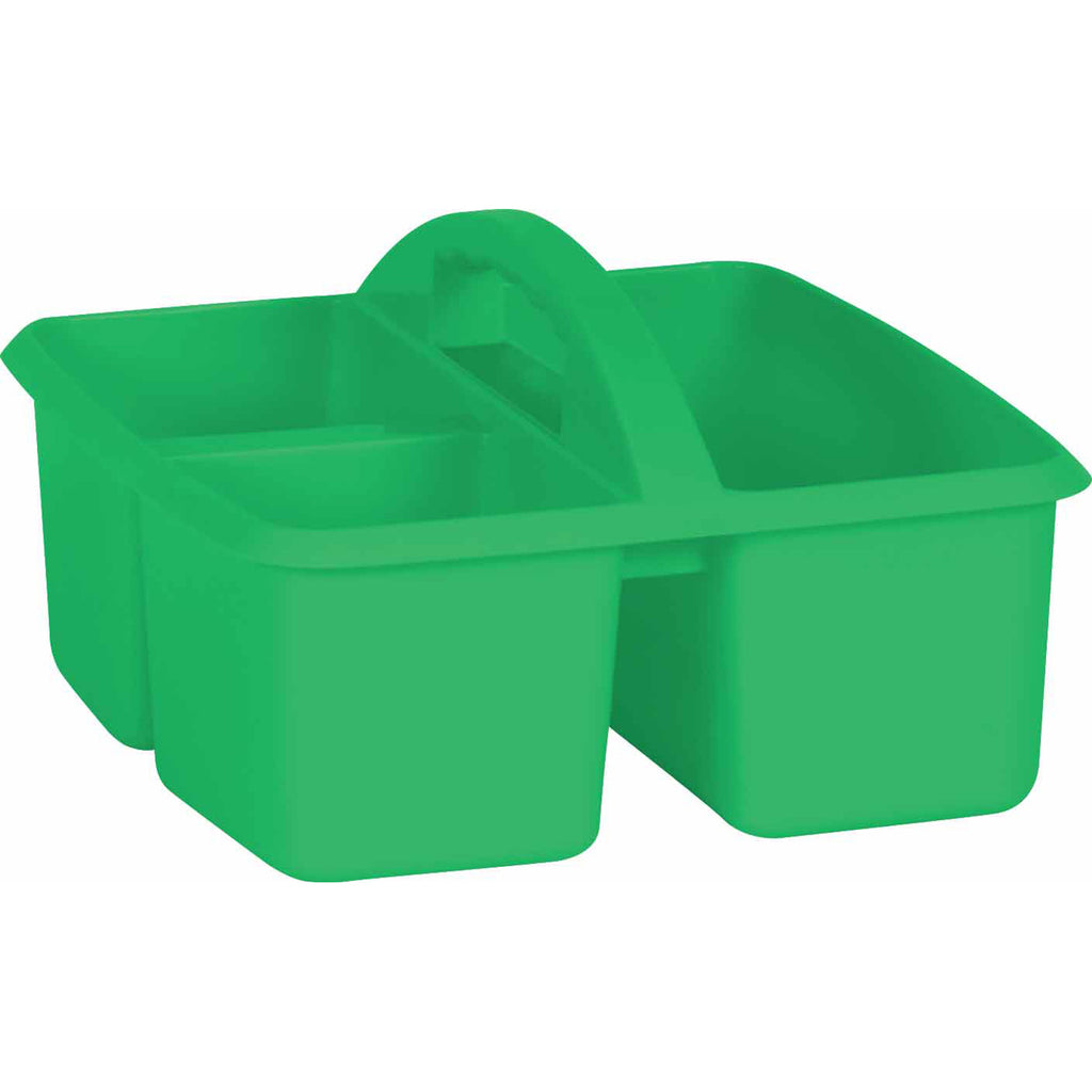 (6 Ea) Green Plastic Storage Caddy