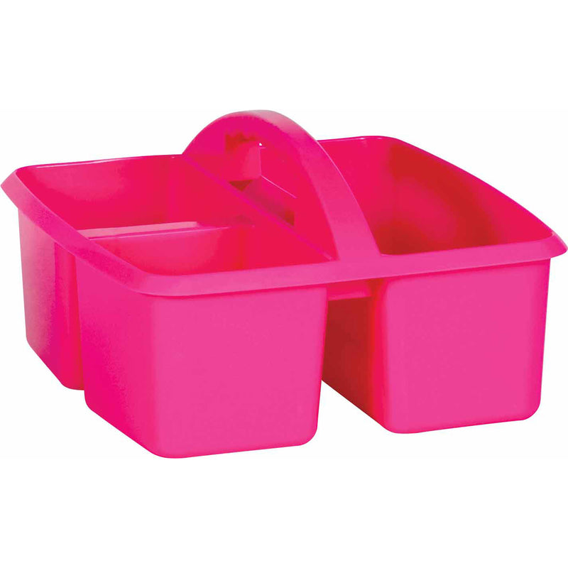 (6 Ea) Pink Plastic Storage Caddy