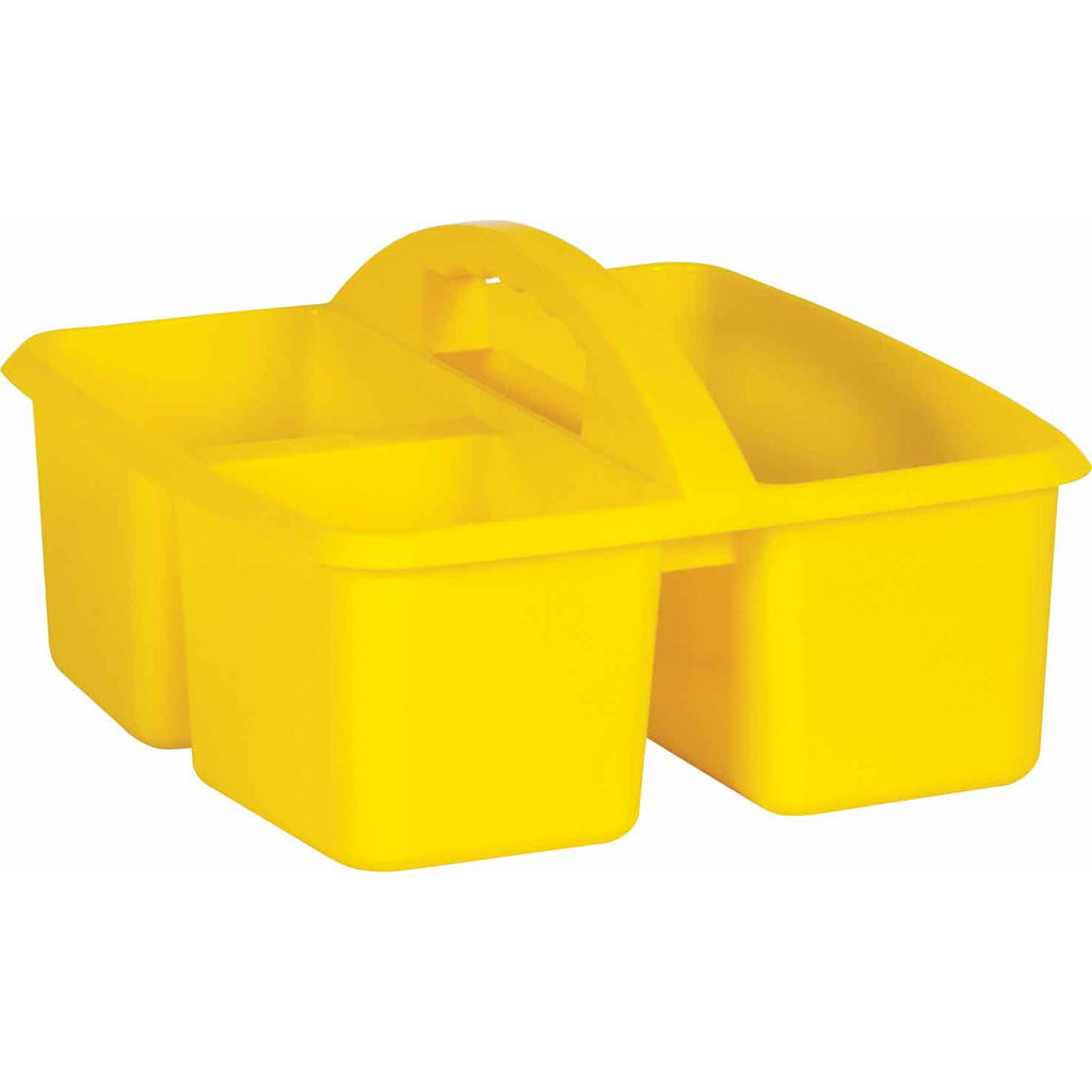 (6 Ea) Yellow Plastic Storage Caddy