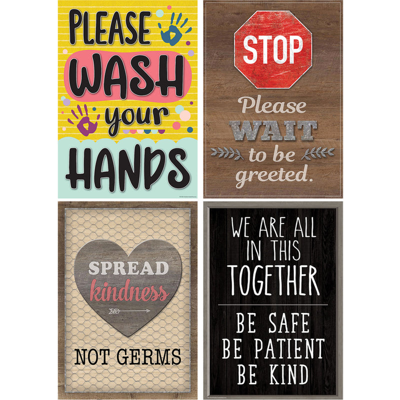 Health & Safety Poster Set Set Of 4