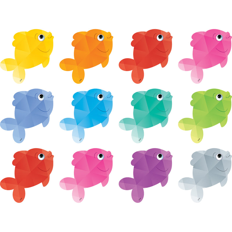 (6 Pk) Colorful Fish Mini Accents