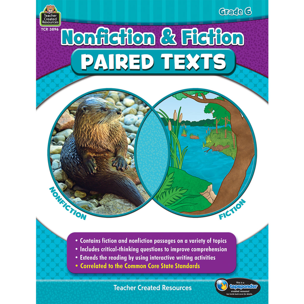 (2 Ea) Nonfiction Fiction Paired Texts Gr6