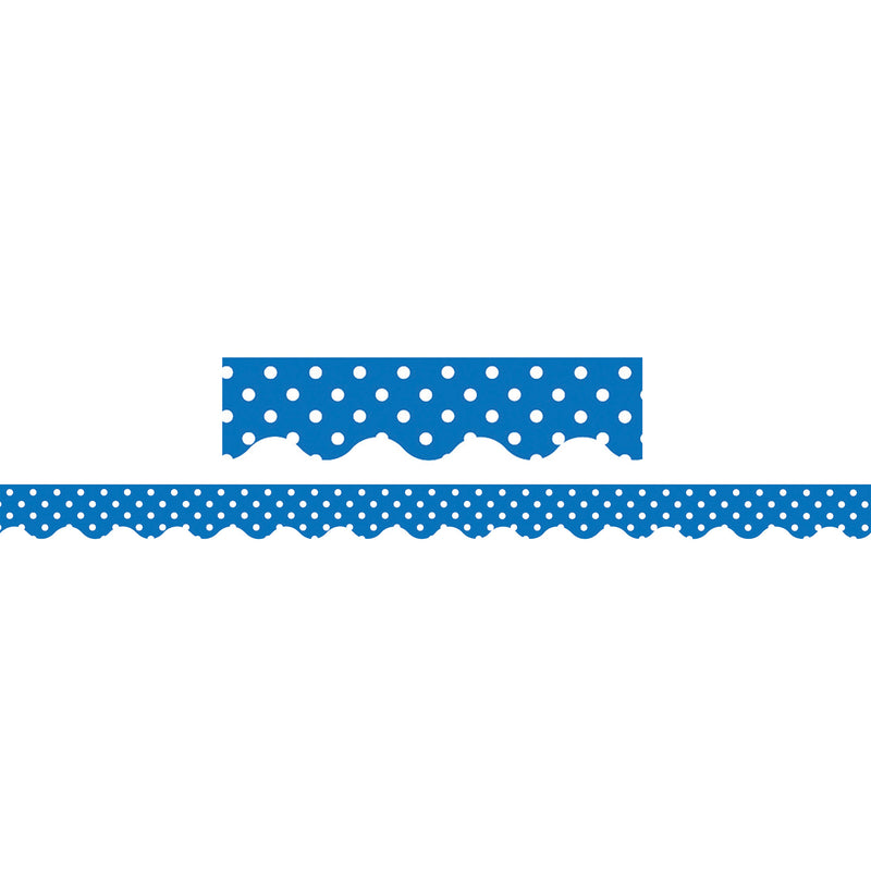 Blue Mini Polka Dots Border Trim