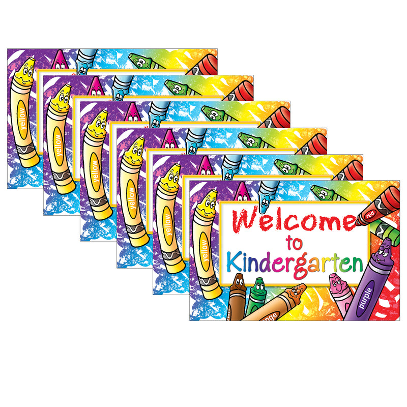 (6 Pk) Welcome To Kindergarten 30 Per Pk Postcards