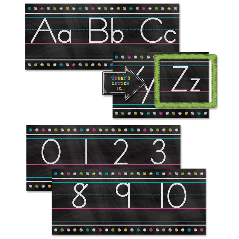 (2 St) Chalkboard Brights Alphabet Line Bb Set