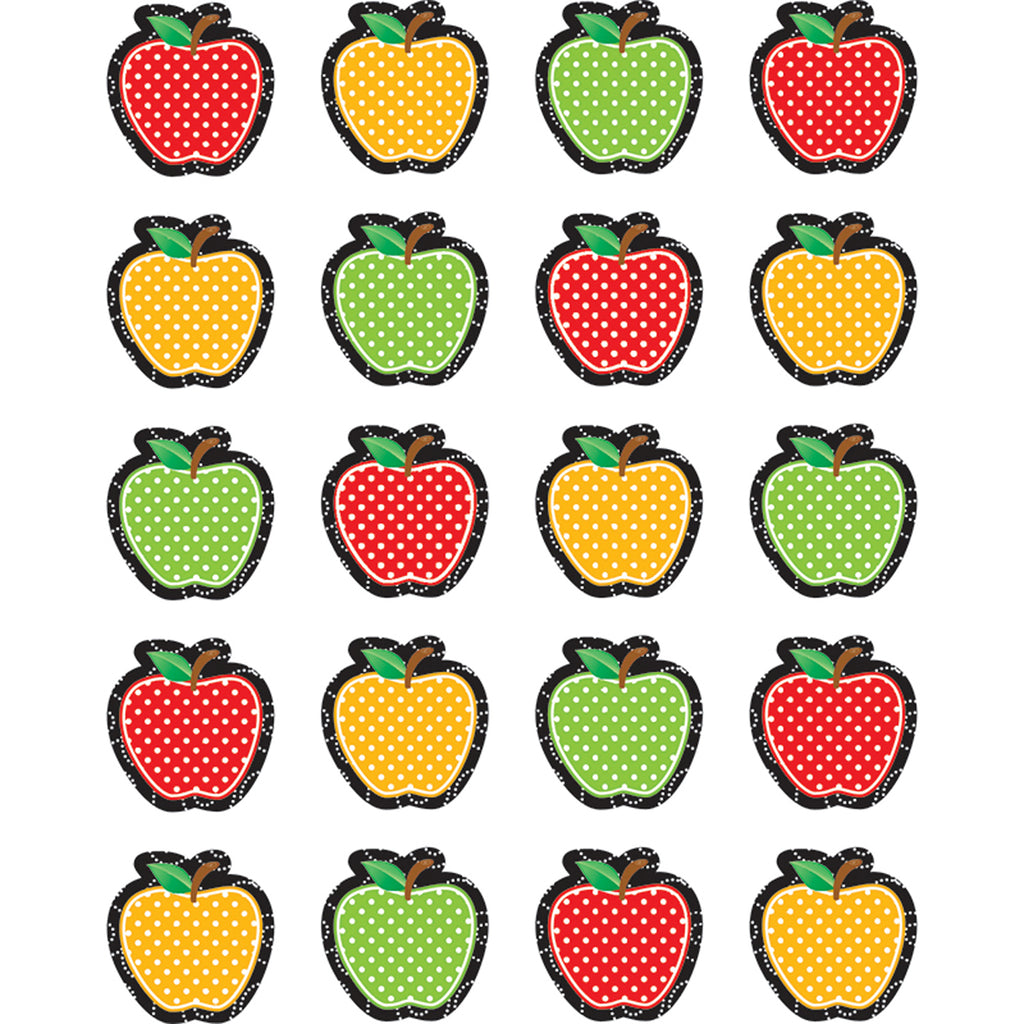 (12 Pk) Dotty Apples Sticker Die Cut