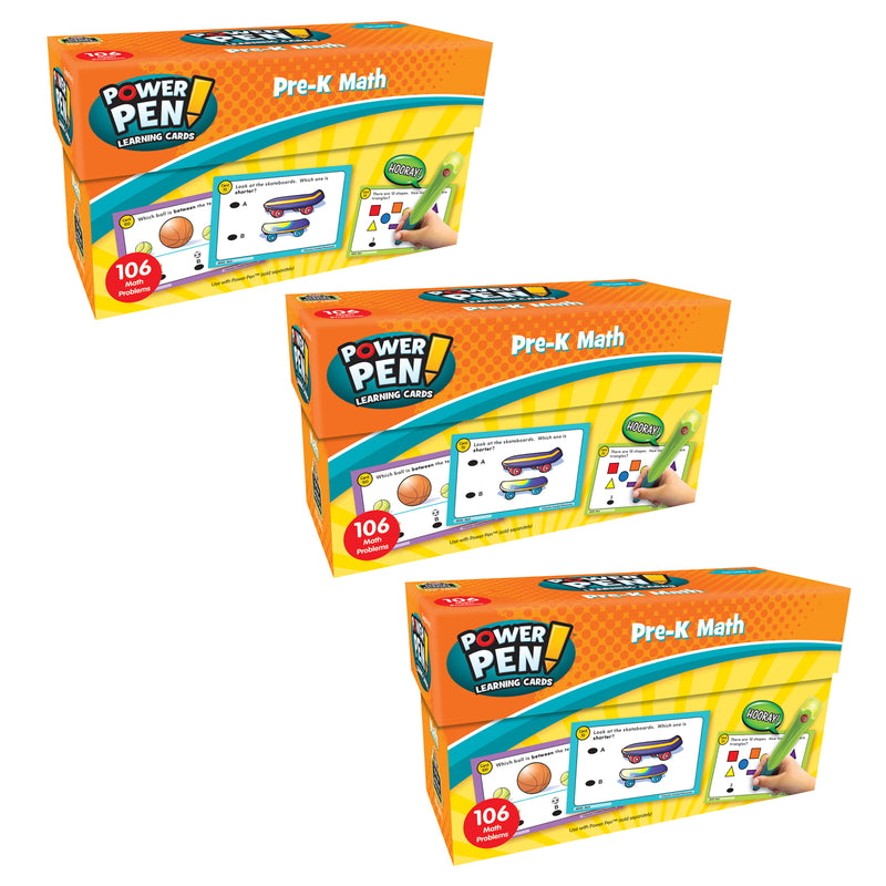 (3 Pk) Power Pen Learning Cards Math Prek