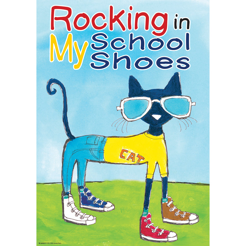 Pete The Cat Rocking Shoes Poster Positive