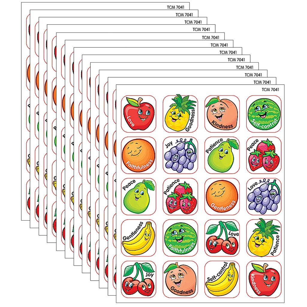(12 Pk) Stickers Fruit Of The Spirit