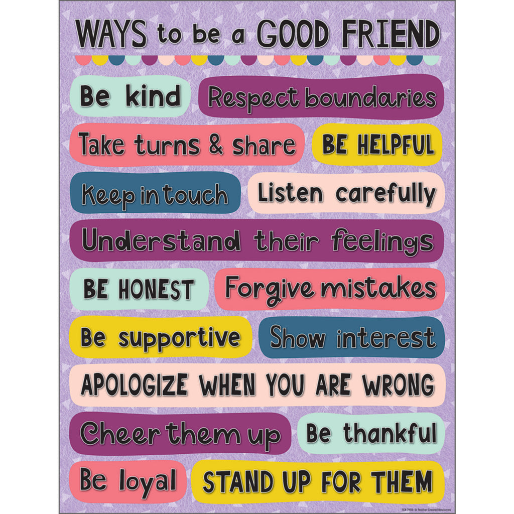 Oh Happy Day Ways To Be A Good Friend Chart