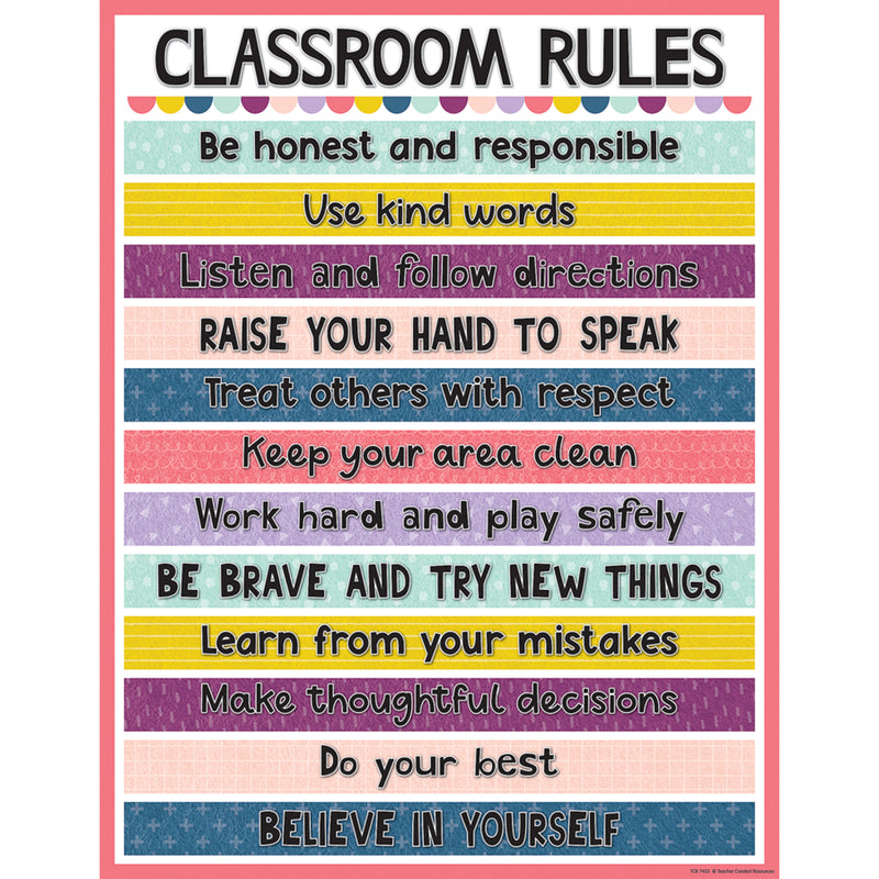 Oh Happy Day Classroom Rules Chart
