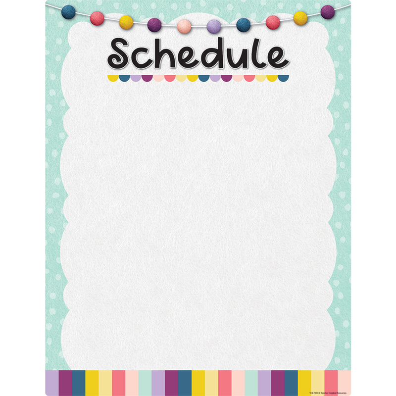 Oh Happy Day Schedule Write-on Wipe-off Chart