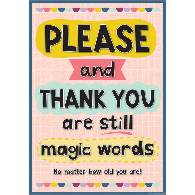 Please & Thank Your Are Still Magic Words Positive Poster