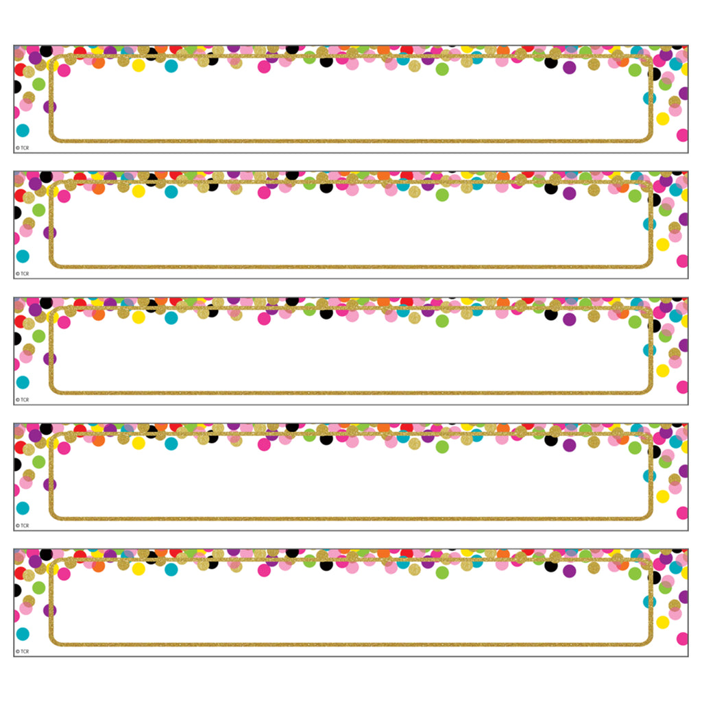 Large Confetti Labels Accents Magnetic