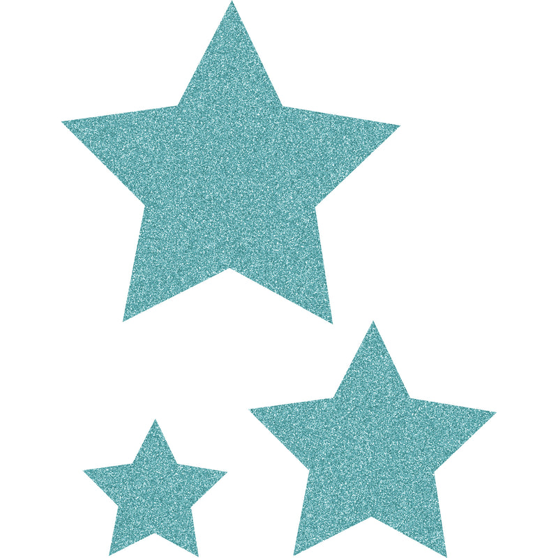 Ice Blue Glitz Stars Accents Asst Sizes