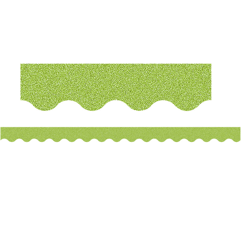 Lime Glitz Scalloped Border Trim