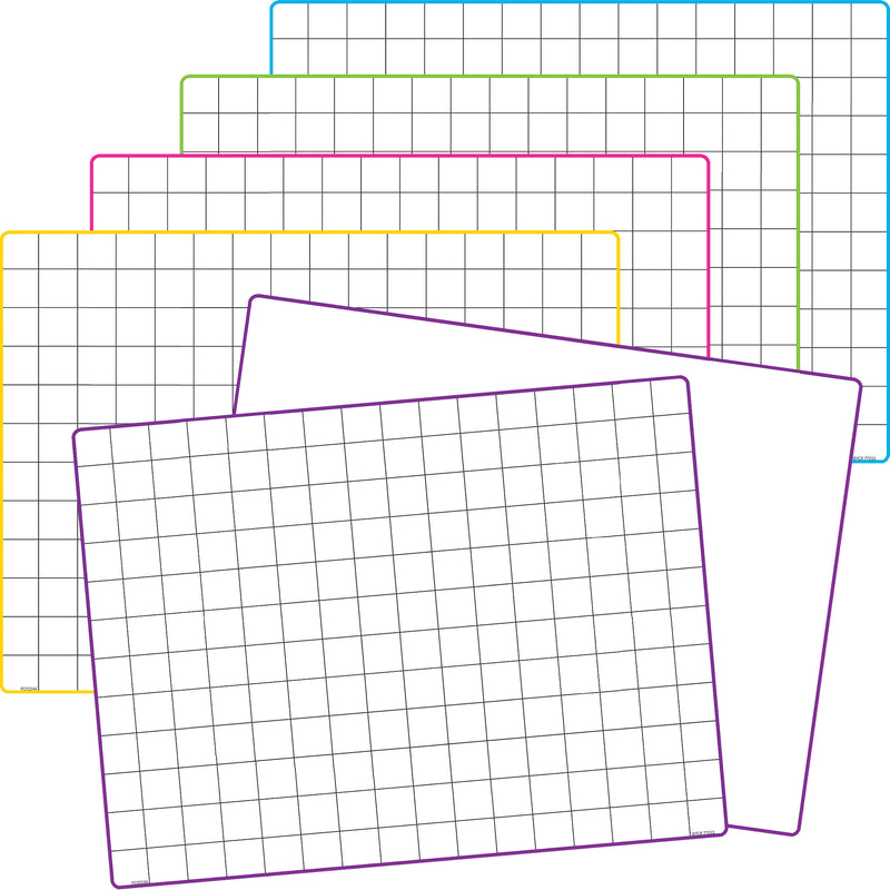Math Grid Dry Erase Boards 10 St