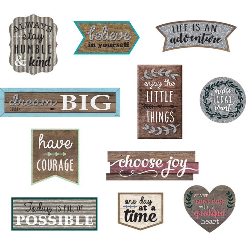 (2 Pk) Positive Sayings Accents Clingy Thingies
