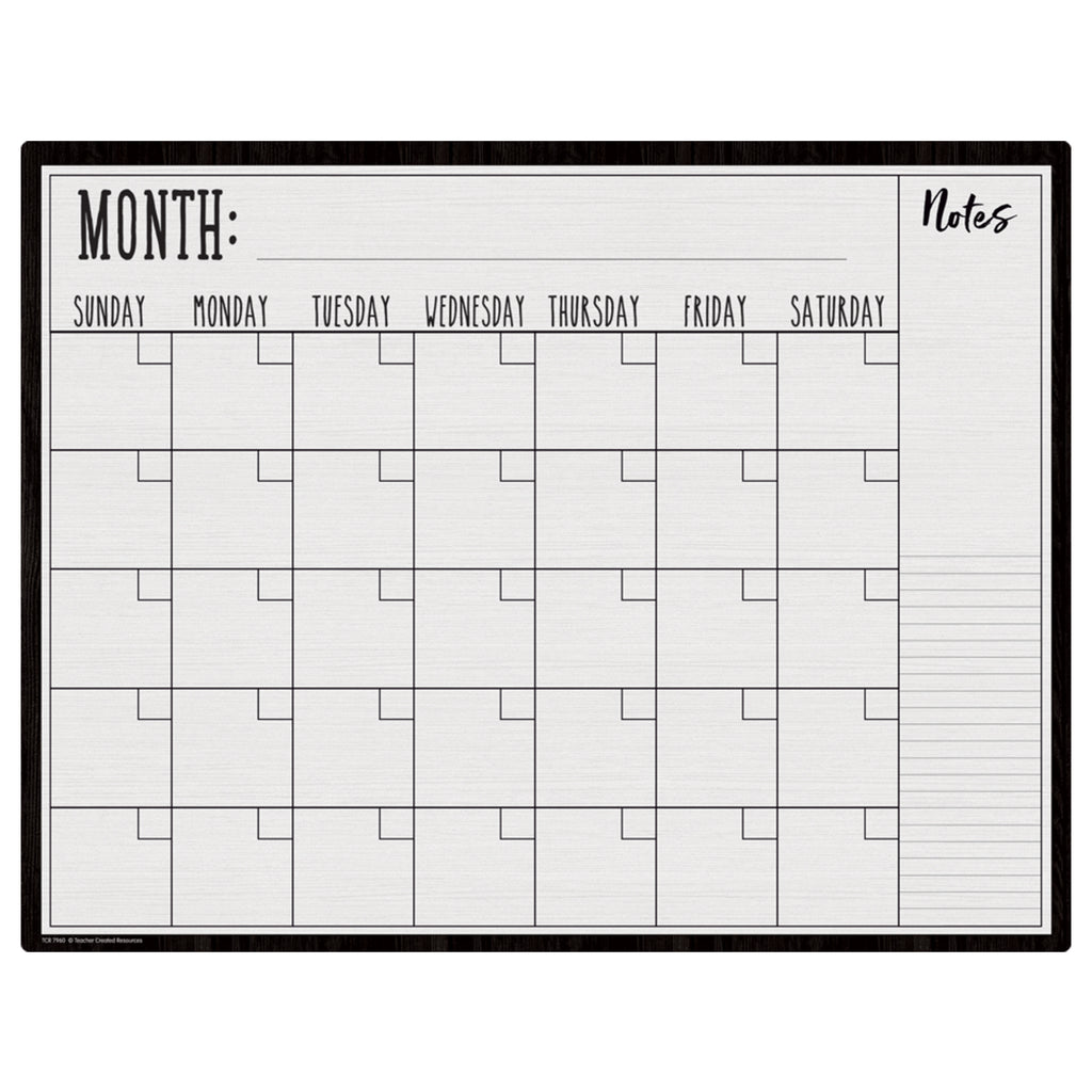 Modern Farmhouse Calendar Write-on Wipe-off Chart