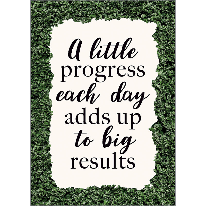 A Little Progress Each Day Adds Up Big Results Positive Poster