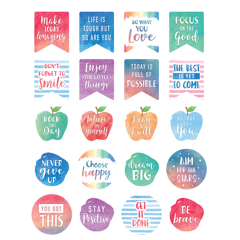 Watercolor Words To Inspire Sticker