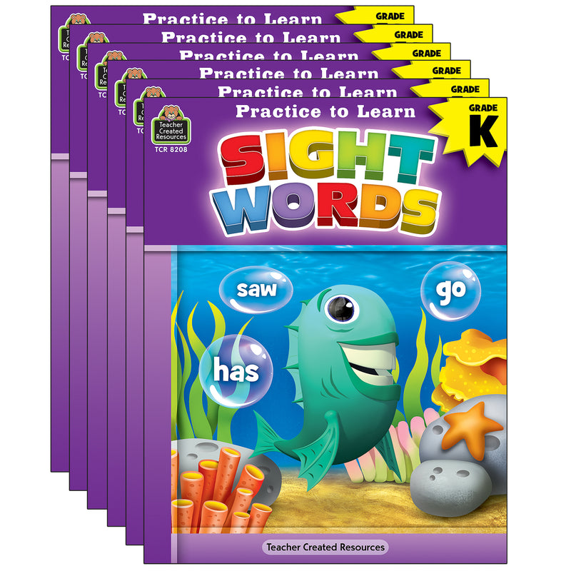 (6 Ea) Practice To Learn Sight Wrds Gr K