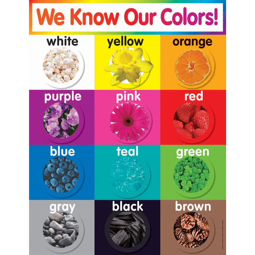 (6 Ea) Colors Chart Gr Pk-5