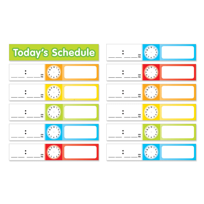 (6 Pk) Schedule Cards Pocket Chart Add Ons