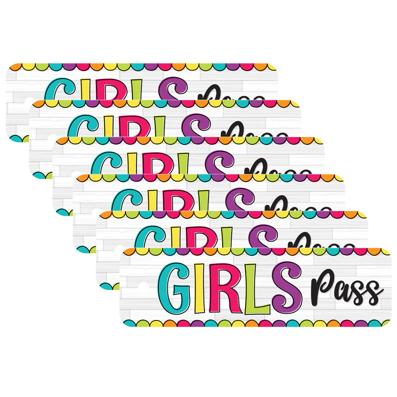 (6 Ea) Diy Dots Girls Pass Plastic