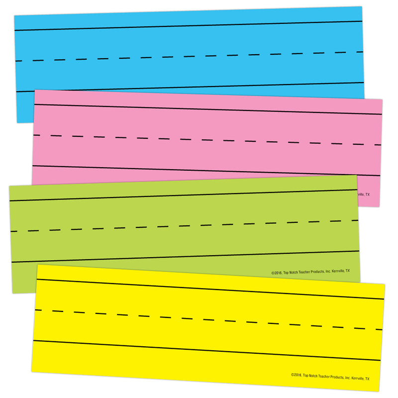 (4 Pk) Magnetic Word Strips Bright Asrtd