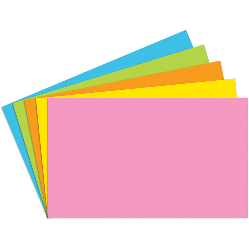 (6 Pk) Index Cards 3x5 Blank 100 Per Pk Brite Assorted