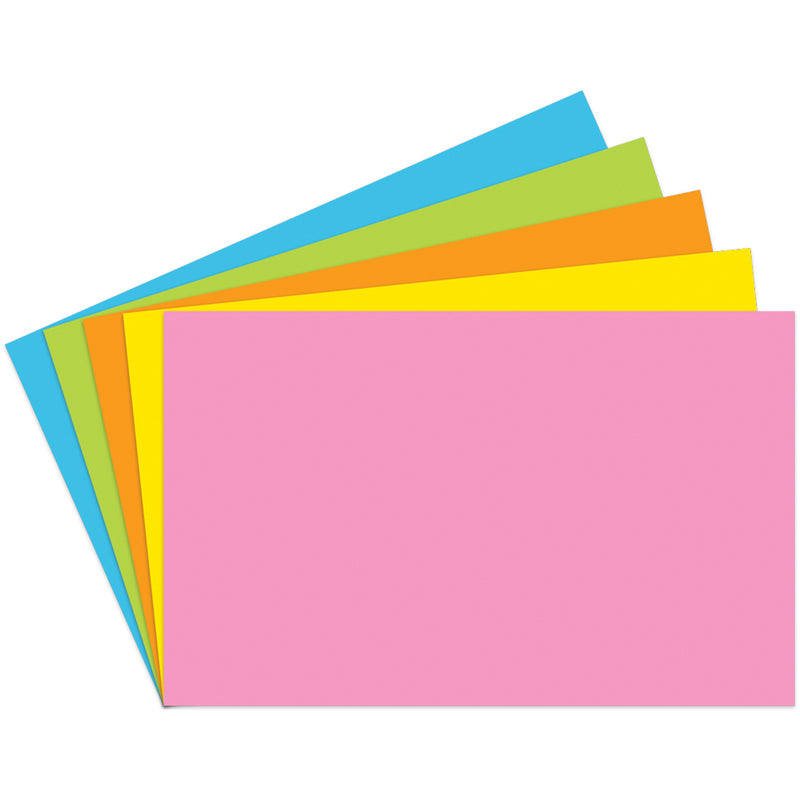 (3 Pk) Index Cards 5x8 Blank Brite Assorted 100 Per Pk