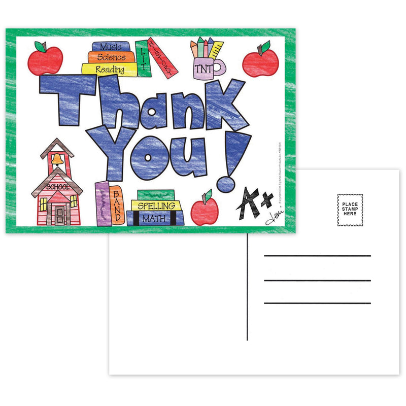 (6 Pk) Thank You Postcards - Full Color