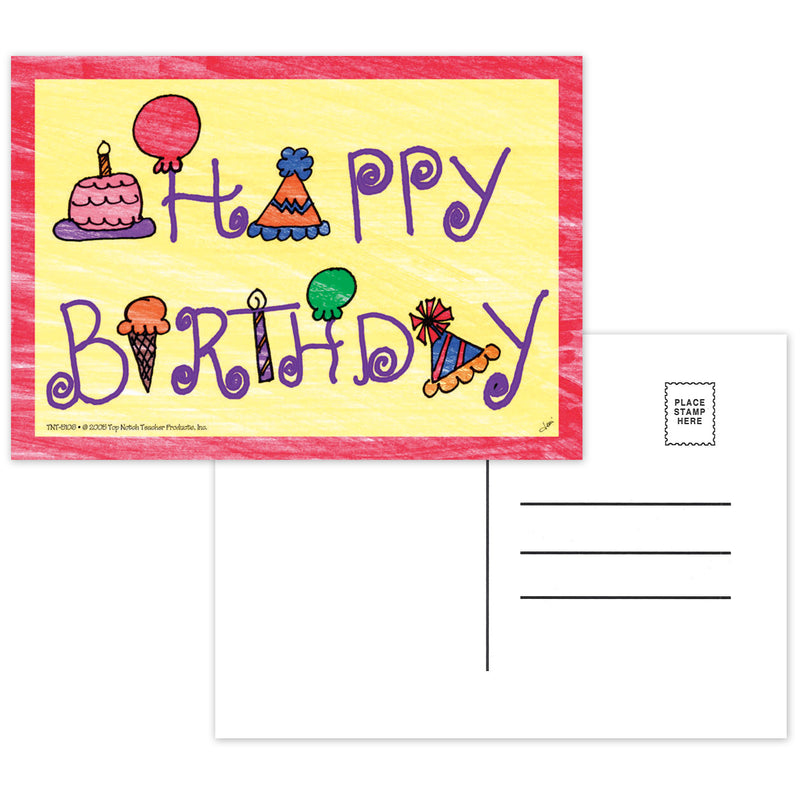(6 Pk) Happy Birthday Postcards